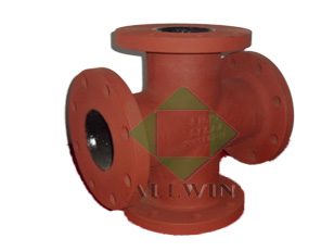 ductile iron AWWA C110 all flanged cross