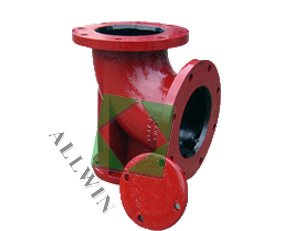 ductile iron AWWA C110 flanged duckfoot bend