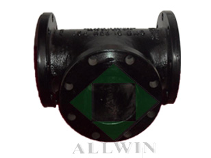 ductile iron AWWA C110 all flanged tee